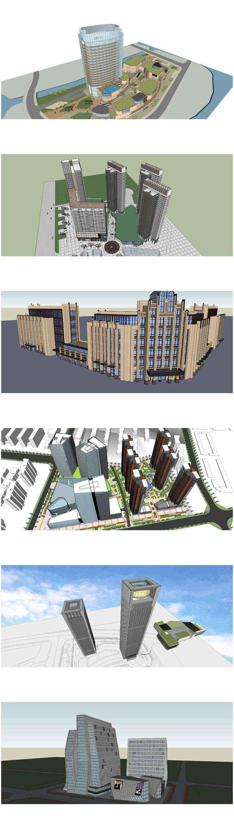 ★Total 98 Types of Commercial,Residential Building Sketchup 3D Models Collection(Best Recommanded!!)