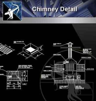 【Architecture CAD Details Collections】Chimney CAD Details